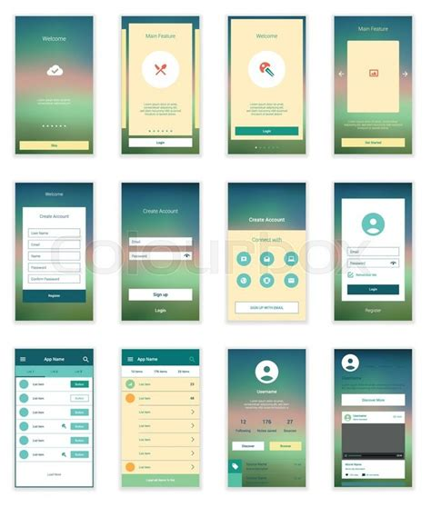 App Home Screen Design Inspiration mobile screens user interface kit modern user interface