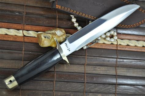 Handmade Bowie Knives Uk - handmade bowie knife 440c steel buffalo horn