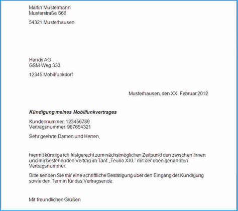 Schreiben Aufhebungsvertrag Muster 9 K 252 Ndigung Schreiben Muster Rechnungsvorlage