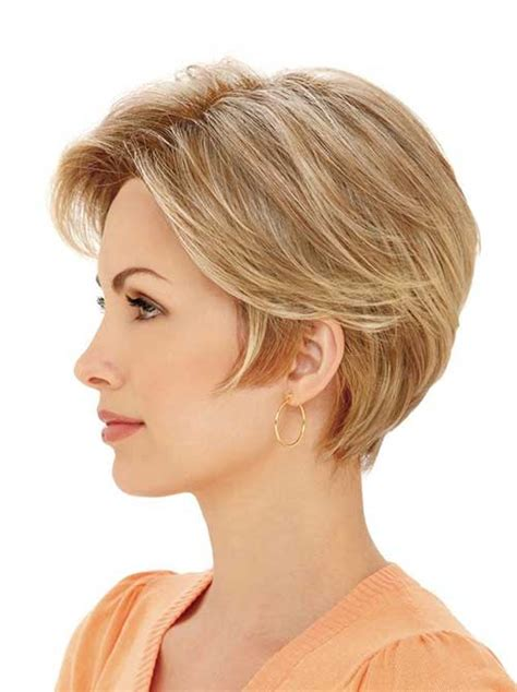 short hairstylescuts for fine hair with back and front view short straight hairstyles for fine hair short hairstyles