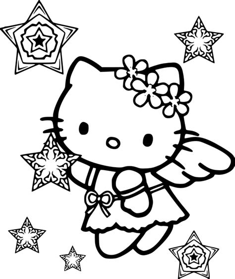 hello kitty angel coloring pages hello kitty snow angel coloring page