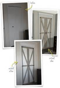 Bifold Barn Doors The Painted Hive Converting Bi Folds To Barn Doors Before After