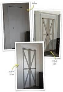 bifold barn door the painted hive converting bi folds to barn doors