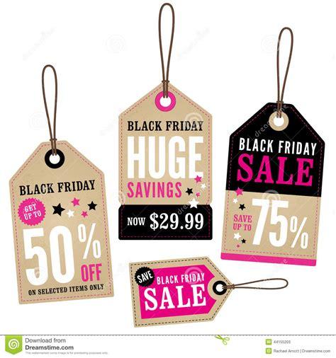 black friday desk sale black friday sale vintage labels set cartoon vector