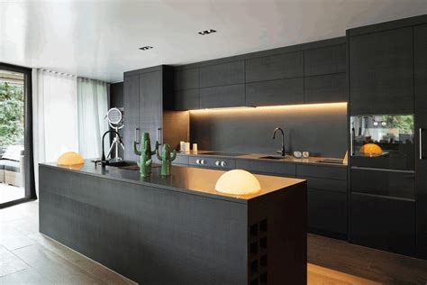 black kitchen contemporary matte black kitchen cabinet smooth black rock