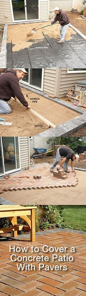 Diy Concrete Patio Cover Ups Lots Of Ideas Tutorials How To Cover A Concrete Patio With Pavers