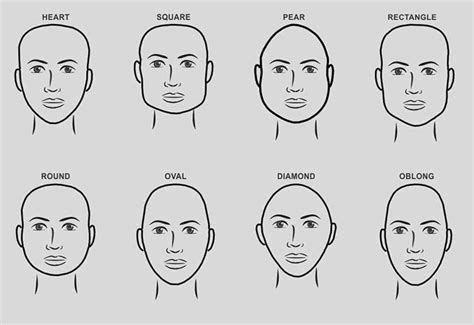 shapes of heads with haircuts that fit them awesome hairstyles for face shapes images styles ideas