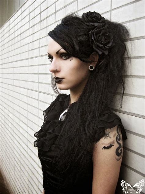 old goth bangs hairstyle gothic hairstyles the haircut web
