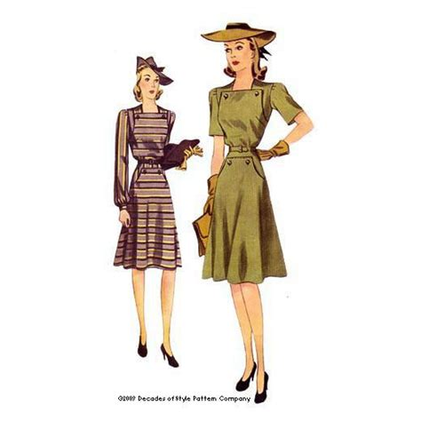 vintage pattern company 1940s vintage sewing pattern for day dress decades of
