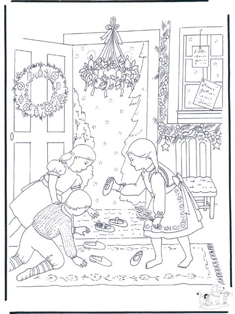free winter scenery coloring pages