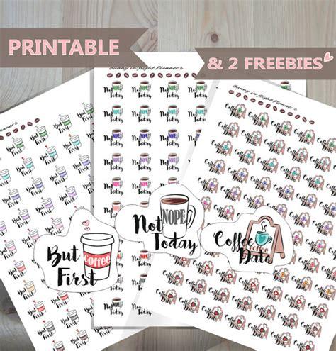 printable planner stickers rainbow coffee cup by partyink coffee cup printable sticker kitcoffee love planner sticker