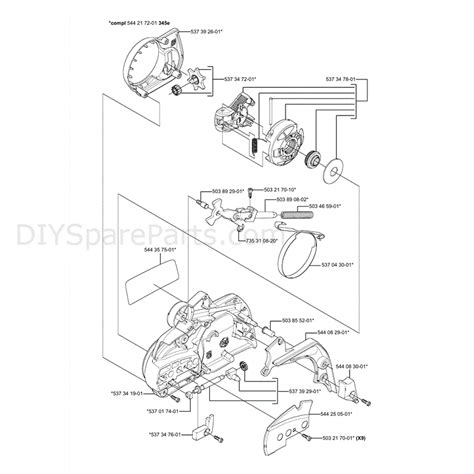 husqvarna chainsaw parts diagram husqvarna 340 chainsaw 2006 parts diagram page 2