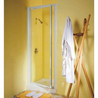 Reduced Height 1750mm X 750mm Shower Pivot Door Silver Reduced Height Shower Door