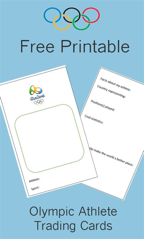 printable olympic name tags free printable olympic athlete trading cards brownies