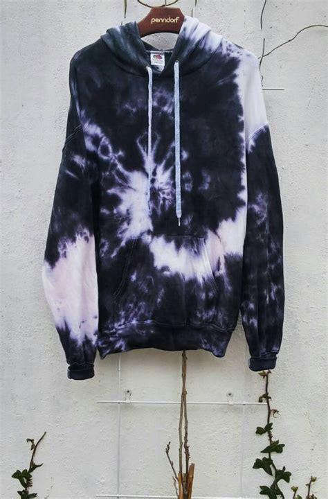 Hoodie Kartun Jidnie Clothing the black snake tie dye hoodie black fashion grunge