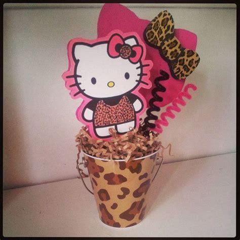 Hello Kitty Leopard Centerpiece Hello Kitty Pinterest Hello Centerpiece