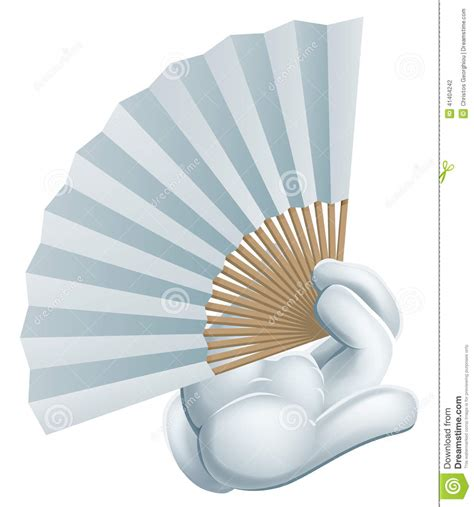 image of a fan hand holding paper fan stock vector image 41404242