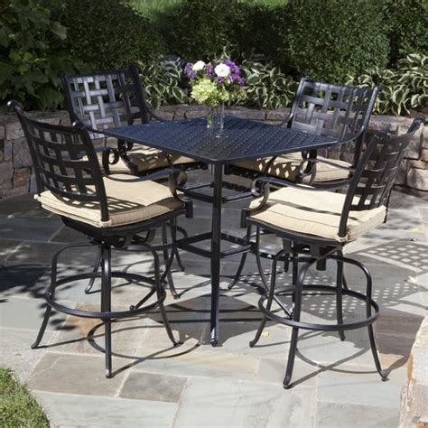 patio furniture bar sets chateau bar height outdoor patio furniture set