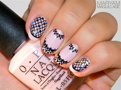lace pattern on nails maryam maquillage quot pink lace quot nail art