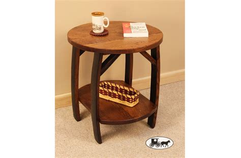 stave end table amish and adirondack furniture for living and family rooms