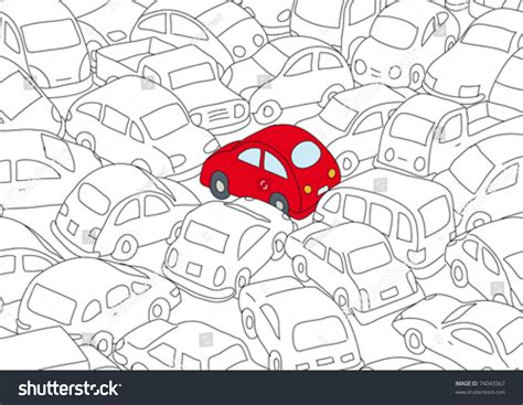 traffic pattern en espanol car traffic jam stock vector illustration 74043367