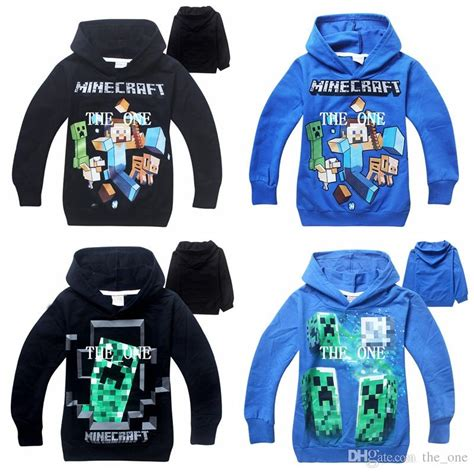 Sweater Hoodie Mine Craft minecraft hoodie boys minecraft sweaters boy minecraft hoody children sweater character pattern