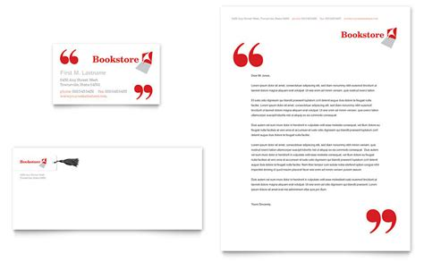 Library Card Template Microsoft Word by Bookstore Library Business Card Letterhead Template