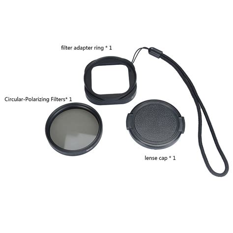 Adapter Ring Uv Lens Protective Cap For Gopro Baru adapter ring uv lens protective cap for gopro 4 session black jakartanotebook