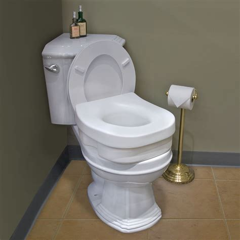 elevated toilet seat elevated toilet seat ada compliant white bathroom