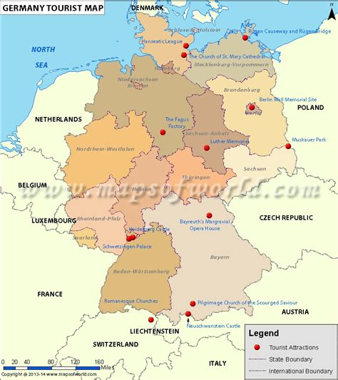 germany tourist attractions map maps update 500621 germany tourist attractions map