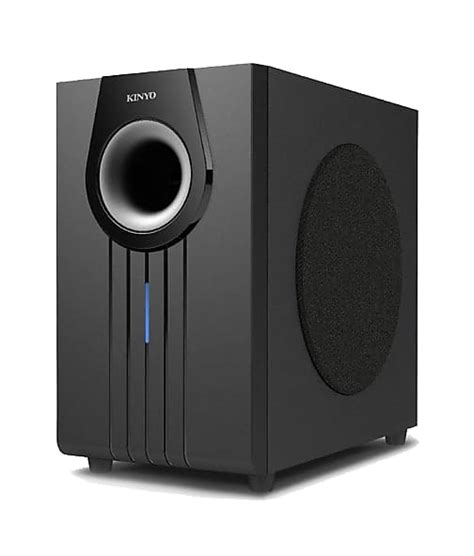 kinyo aw   watt powered subwoofer speaker black