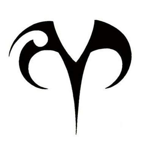 aries color aries symbol tattoo idea maybe in a different color