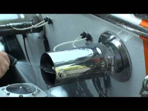 ski boat exhaust manifolds remove water stains water spots from boat hull exhaust