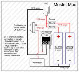mosfet mod wiring diagram enclosure layout parts list openpv