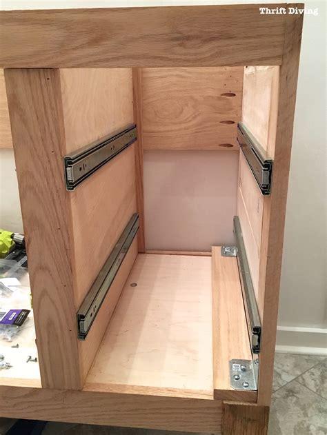 build  diy bathroom vanity part  making  drawers