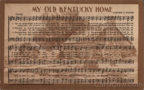 my kentucky home songs lyrics
