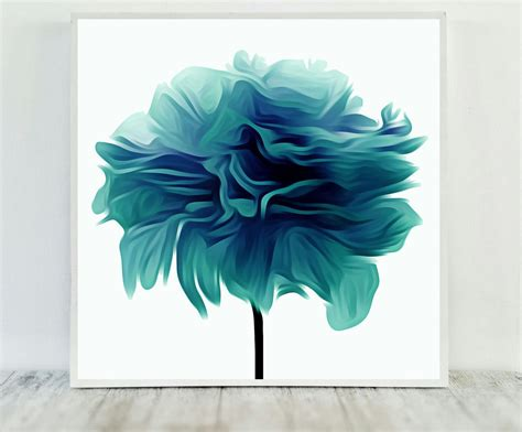 free printable flowers pinterest teal flower print abstract teal print flower print teal