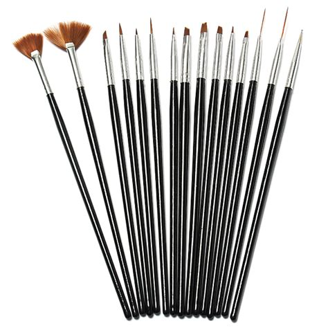 Nail Brush Set 15pcs 15pcs black nail acrylic uv gel design brush set