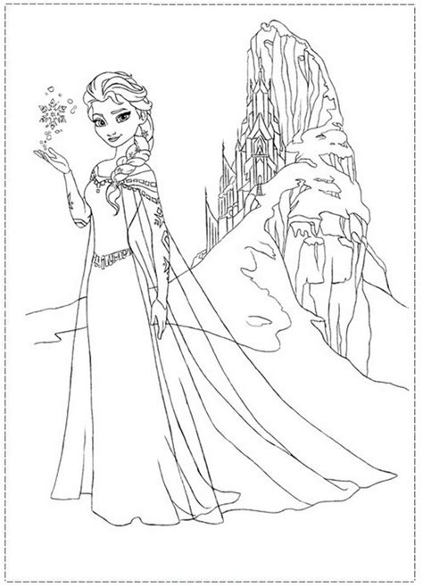 frozen coloring pages elsa ice castle elsa coloring pages castle elsa and her ice castle