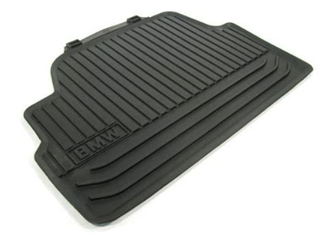 bmw 5 series f10 all weather floor mats rear black