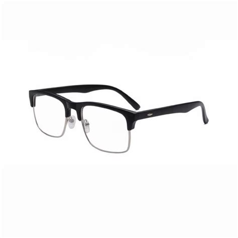 Square Glasses matte black plastic semi rimless square glasses frame