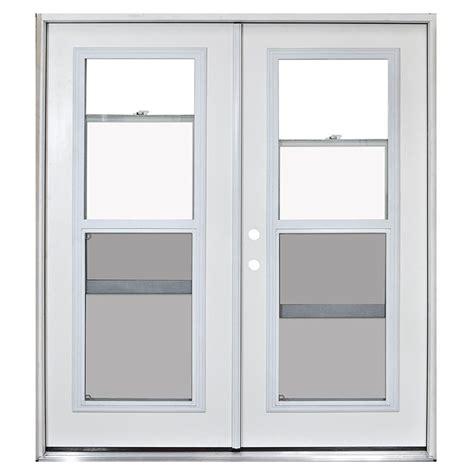Steves Sons 72 In X 80 In Fiberglass Primed White Vented Exterior Doors