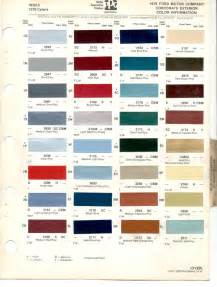 paint chips 1979 fiesta ford truck lincoln markv mercury