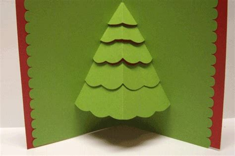 pop up tree card christmas card ideas