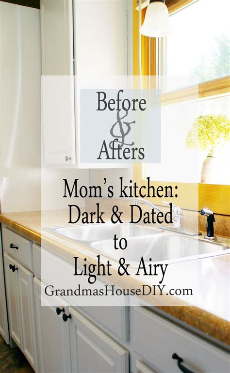 do it yourself paint kitchen cabinets painting kitchen cabinets taking my mom s dark kitchen