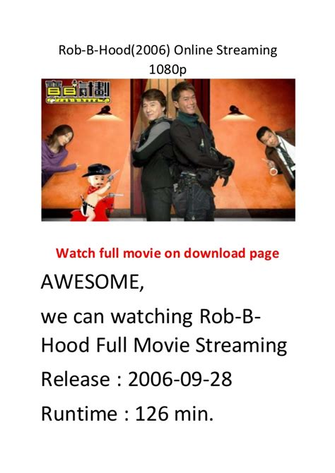 streaming film action comedy rob b hood 2006 online streaming 1080p hollywood best