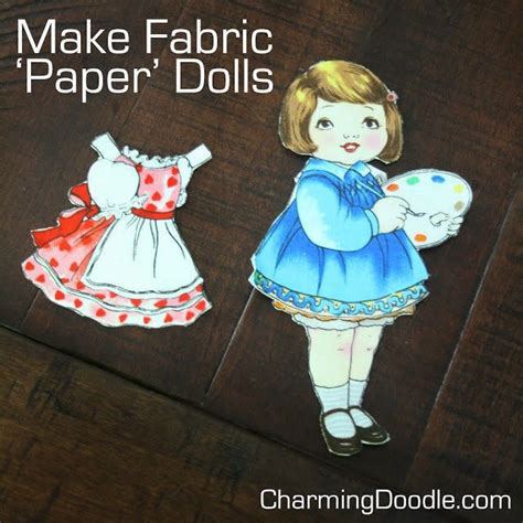 Make Paper Doll - make fabric paper dolls 183 how to make a doll accessory