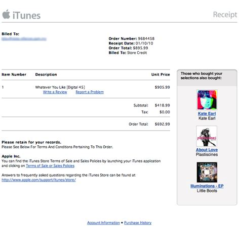 email receipt template shoe store apple itunes receipt tech news