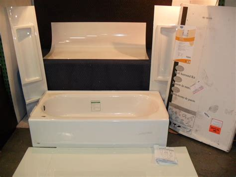 bathtub with 5 pc wall kit shower surround ebay
