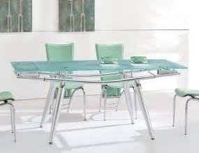 Modern glass dining table modern dining table w extendable glass top